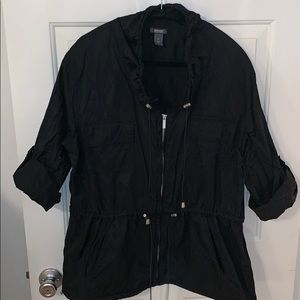 Kenneth Cole Reaction Black Utility Jacket Size M